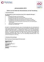 der Rückblick 2012 - Oberderdingen