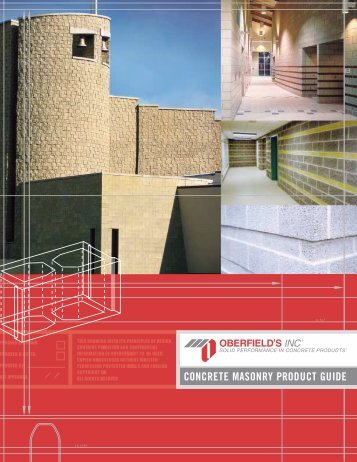 Download Concrete Masonry Product Guide - Oberfield's Inc.