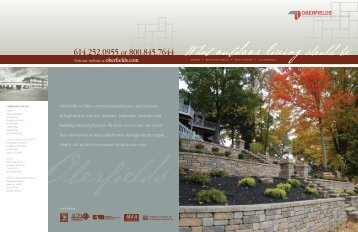retaining wall system - Oberfield's Inc.