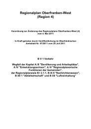 Verordnung zur Änderung des Regionalplans Oberfranken-West (4)