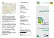 4. Bayerisches Flächenspar-Forum 09. – 10. Oktober 2013 in Sonthofen