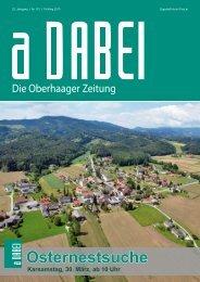 Adabei Frühjahr 2013 - Oberhaag