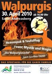 30. April 2010 ab 16.00 Uhr - Der Oberharz