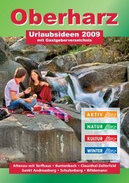 Urlaubsideen 2009 - Der Oberharz