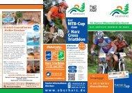 Flyer zum 14. Harzer Mountainbike Cup - Der Oberharz