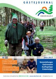 Gästejournal Juli 2013 (PDF) - Der Oberharz