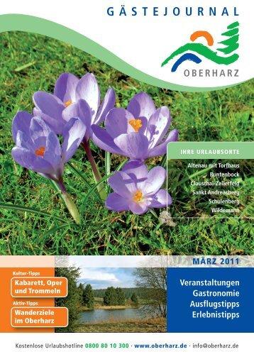 GÄSTEJOURNAL - Der Oberharz