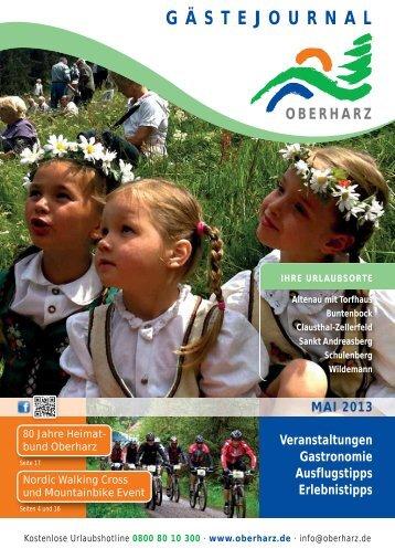 Gästejournal Mai 2013 (PDF) - Der Oberharz