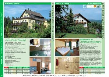 """Willkommen im """"Landhaus am Kunstberg"""" - Der Oberharz"""