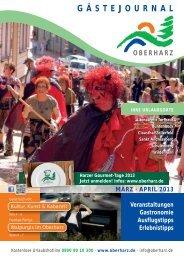 Gästejournal März/April 2013 (PDF) - Der Oberharz