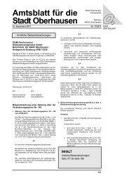 Amtsblatt für die Stadt Oberhausen INHALT - in Oberhausen