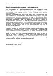 Handreichung zum Oberhausener Sozialstrukturatlas