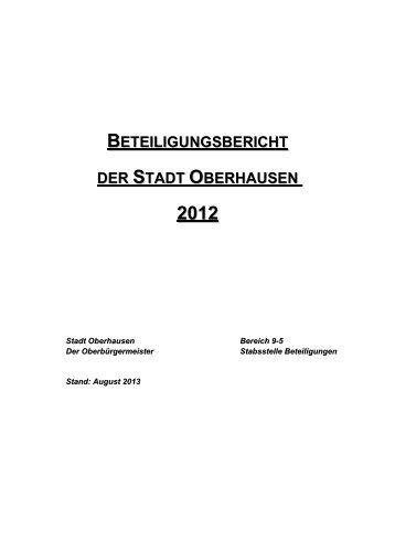 Beteiligungsbericht 2012 - Stadt Oberhausen