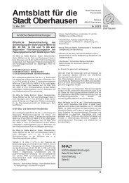 Amtsblatt für die Stadt Oberhausen - in Oberhausen