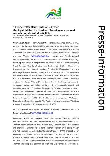 1.Globetrotter Harz Triathlon – Erster ... - Der Oberharz