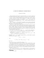 A NOTE ON STEPHAN'S CONJECTURE 87 ... - Oberlin College