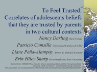 To Feel Trusted: Correlates of Adolescents Beliefs ... - Oberlin College
