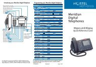 Meridian Digital Telephones M3903 and M3904 Quick Reference ...