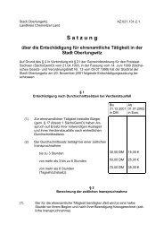 Satzung über die Entschädigung für ehrenamtliche Tätigkeit in der ...