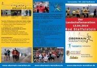 Ausschreibung zum Obermain-Marathon 2014