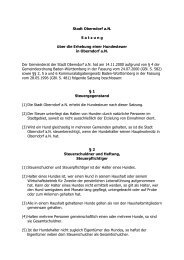 Hundesteuersatzung - in der Stadt Oberndorf am Neckar