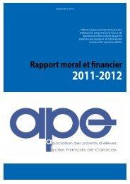 Rapport moral et financier 2011-2012 - Site d'aide de l'offre SPIP ...