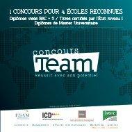 1 concours pour 4 écoles reconnues - Concours team