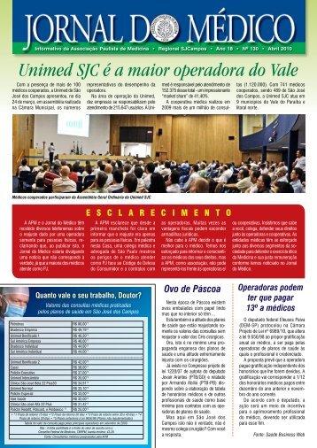Unimed SJC é a maior operadora do Vale - Associacao Paulista de ...