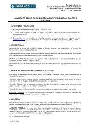 condições gerais do seguro de acidentes pessoais coletivo escolar