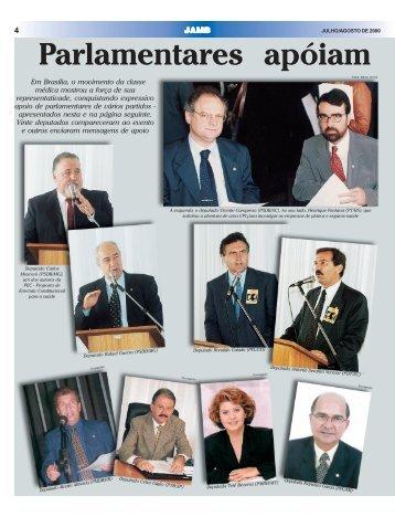 Parlamentares apóiam movimento médico - Connectmed