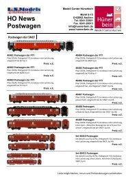LS Models SNCF Postwagen - Modell Center Hünerbein
