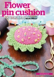 Spring has sprung! Use up oddments to knit this pretty ... - Knit Today