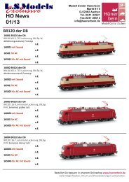 LS Models Information 1/13 - Modell Center Hünerbein