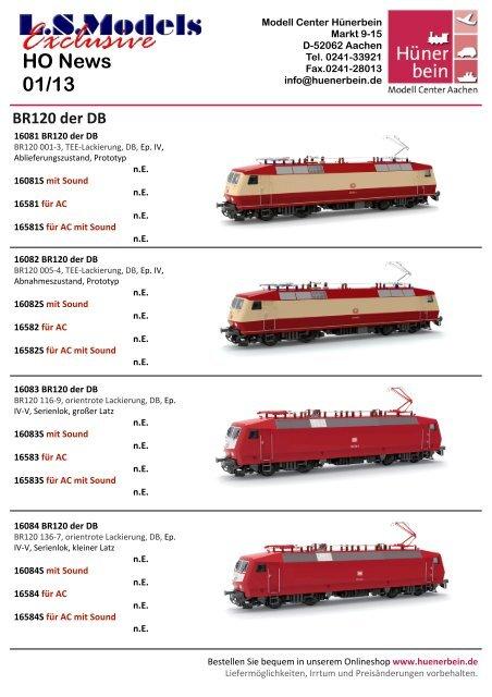LS Models Information 1/13 - Modell Center Hünerbein
