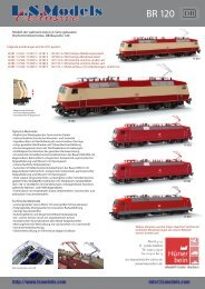 LS Models DB BR120 & City Night Line Wagen