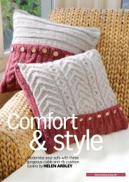 Cable Cushion - Knit Today