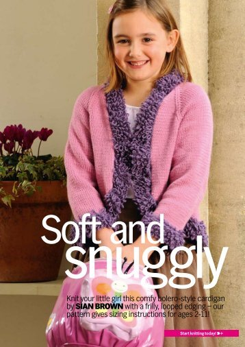 Knit your little girl this comfy bolero-style cardigan by ... - Knit Today
