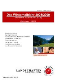 Winterhalbjahr 08/09 - Oberösterreich Tourismus