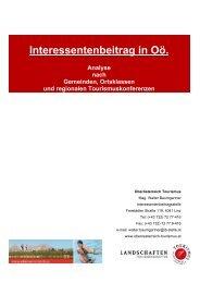 Interessentenbeitrag in Oö. - Oberösterreich Tourismus