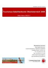 Hauptergebnisse 2009 - Oberösterreich Tourismus