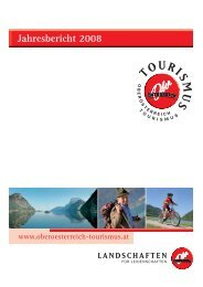 Jahresbericht 2008.pdf - Oberösterreich Tourismus