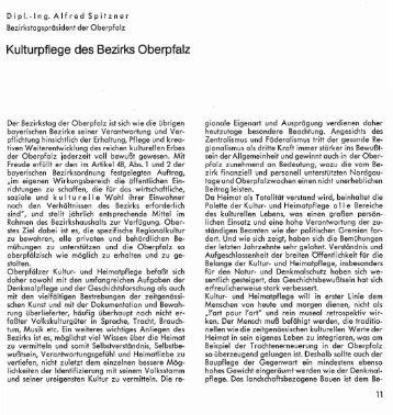 Kulturpflege des Bezirks Oberpfalz - Oberpfälzer Kulturbund
