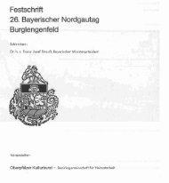 Festschritt 26. Bayerischer Nordgautag Burglengenfeld