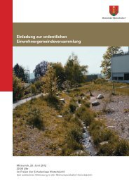 Traktandenbericht vom 20. Juni 2012 - Gemeinde Oberrohrdorf