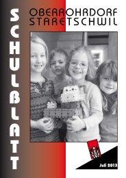 Das neue Schulblatt ist da! - Gemeinde Oberrohrdorf