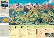Panoramakarte, Wanderungen ab Bergstation - Surselva Info