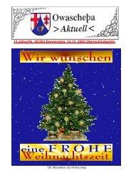 13.Jahrg/Nr. 08/264 Donnerstag, 15.12. 2005 Oberscheidweiler