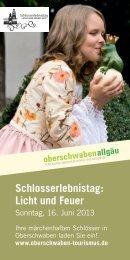 Schlosserlebnistag: Licht und Feuer - Oberschwaben-Tourismus