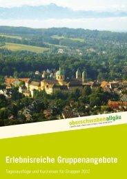 Erlebnisreiche Gruppenangebote - Oberschwaben-Tourismus