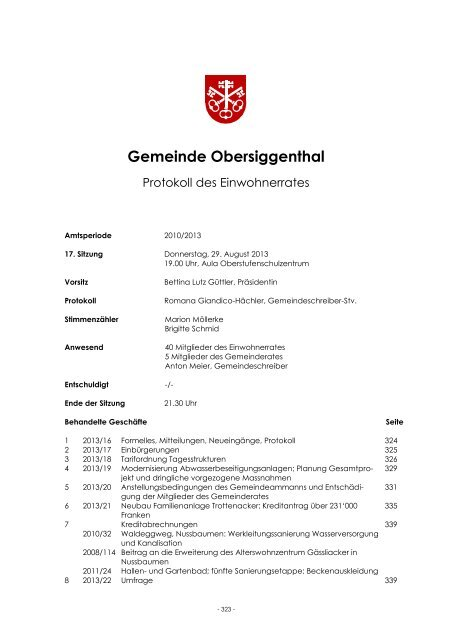 Gemeinde Obersiggenthal